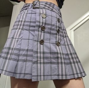 2/$500 ☁️💜☁️ Rare purple plaid Burberry skirt
